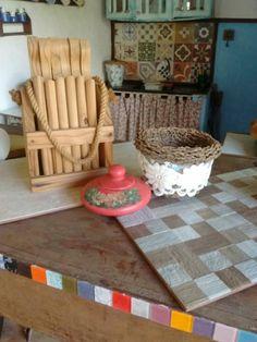 Cozinha no jardim,pra fumegar um cafézinho passado na hora pras visitas,amooo
