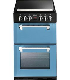 Stoves RICHMOND 550DFW 550mm Mini Range Dual Fuel Cooker WOK Burner Blue