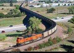 RailPictures.Net Photo: BNSF 9185 Burlington Northern Santa Fe EMD SD70ACe at Castle Rock, Colorado by John Shine