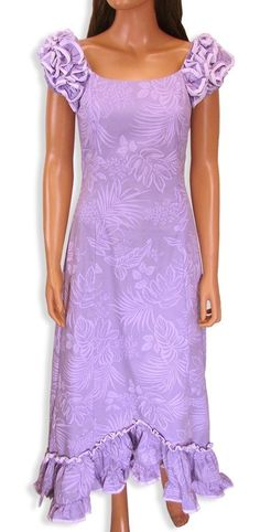 New Aloha Long Muumuu Dress Island Leaf Plus Size Moomoo 2XL 3XL Pink Purple | eBay