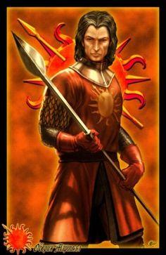 """Oberyn Martell - É o temperamental irmão mais novo de Doran. Possui 8 filhas bastardas, chamadas de Serpentes da Areia. Aos 16 anos, foi encontrado na cama com a amante do Lorde Yronwood, que o desafiou a um duelo. A luta seria até o primeiro sangue, devido ao berço nobre de Oberyn, ambos sofreram cortes. As feridas de Edgar infeccionaram e acabaram por matá-lo. Oberyn é chamado """"Víbora Vermelha"""" desde então, devido a rumores que ele lutou o duelo com uma lâmina envenenada."""