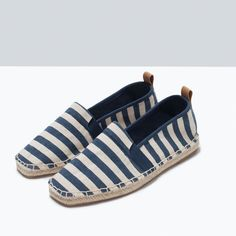STRIPED ESPADRILLES-Flat shoes-Shoes-TRF | ZARA United States