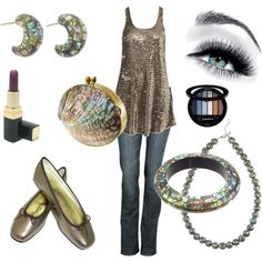 """""""shell/beige"""" by msdj on Polyvore"""