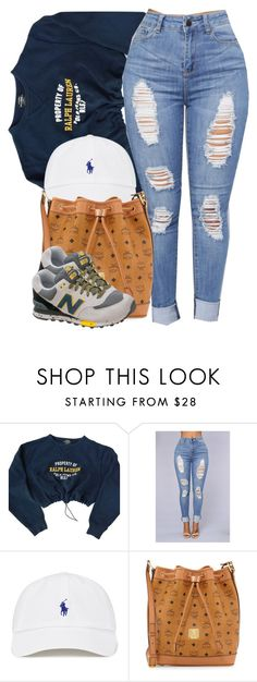 """Polo x New Balance"" by cheerstostyle ❤ liked on Polyvore featuring Polo Ralph Lauren, MCM and New Balance"