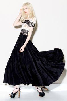 Vintage 1940s Satin + Lace Party Dress http://thriftedandmodern.com/vintage-1940s-satin-lace-party-dress