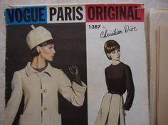 Vintage Vogue Paris Original Pattern  Design by by PIRANHAREPUBLIC, $30.00