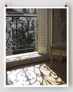 Paris Apartment Paris Window Sunlight Sunset by TheParisPrintShop, $28.00