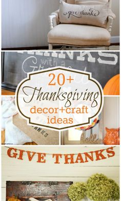 20 Thanksgiving Decor and Crafts ideas