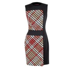 Martin Grant Multicolor Houndstooth Dress