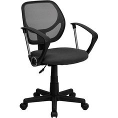 iHome Berry Creek Gray Mesh Swivel Home/Office Task Chair w/Arms, Grey