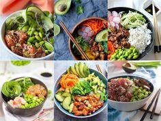 Poké bowls zijn hot en eindelijkis er ook een poké restaurant in Utrecht te vinden. Super fijn voor wanneer je geen tijd hebt om te koken of onderweg bent en zin hebt in een lekkere maaltijd. Die lekkere maaltijd, oftwel poké bowl, bestaat uit een mix van verse vis en... Pureed Food Recipes, Healthy Diet Recipes, Healthy Cooking, Vegetarian Recipes, Healthy Eating, Healthy Food, Pork Recipes For Dinner, Italian Dinner Recipes, Poke Bowl