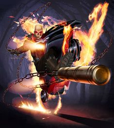 Ghost Rider/Johnny Blaze by Greg Horn Comic Book Artists, Comic Book Characters, Comic Artist, Marvel Characters, Marvel Comics Art, Marvel Comic Books, Comic Books Art, Marvel Heroes, Ghost Rider Movie