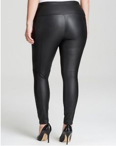plus size leather leggings leather back