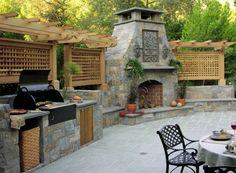 Exceptionnel Kitchen:Fireplace And Outdoor Summer Kitchen Best Summer Kitchens Bridge  Garden Suite Plants In Door