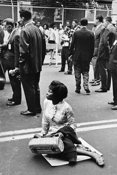 NYC. Probably a CORE protest, Brooklyn, 1963. By Leonard Freed