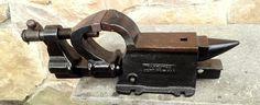 Antique Cast Iron Blacksmith Anvil Vise Tool 1914