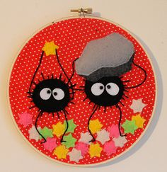 The little soot sprites are so cute. #craftster #StudioGhibli
