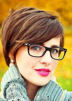 Brown Colored Straight Trendy Short Hair
