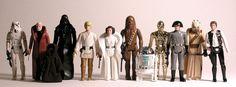 """Star Wars Action Figuren von Kenner.  Krieg der Sterne war mein erster """"richtiger"""" Kinofilm, einige Figuren habe ich immer noch."""