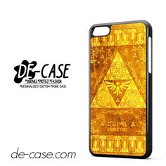 The Legend Of Zelda Gold Pattern For Iphone 5C Case Phone Case Gift Present YO