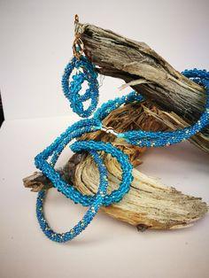 Summer set by Manufaktura Leo. Summer Set, Leather Working, Leo, Crochet Necklace, Jewelry Making, Bracelets, Handmade, Hand Made, Jewellery Making