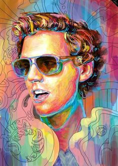 Painting of Mika
