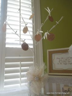 Miss Information: DIY Wedding Wishing Tree - a cute way to share advice with the new couple
