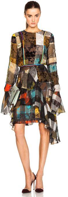 Preen by Thornton Bregazzi Janice Printed Devore Dress, Fashion Week Preview, Women's Fashion, h-a-l-e.com
