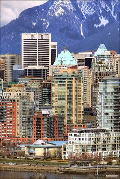The skyline with a backdrop of mountains: Vancouver, British Columbia, Canada Vancouver Skyline, Vancouver Bc Canada, Vancouver British Columbia, Downtown Vancouver, Vancouver Island, Vancouver Photos, Montreal Canada, Toronto, O Canada
