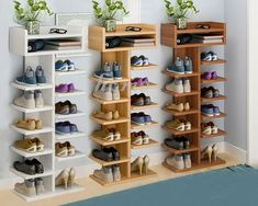 shoe rack ideas diy storage shelves ~ diy storage diy storage boxes diy storage ideas diy storage bench diy storage shed diy storage shelves diy storage cabinet diy storage ideas for small bedrooms Diy Storage Cabinets, Diy Storage Shelves, Diy Storage Bench, Shoe Storage Cabinet, Storage Hacks, Shoe Storage Solutions, Shoe Storage Ideas Uk, Shoe Racks For Closets, Shelves For Shoes