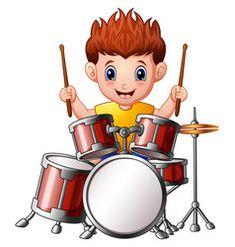 Cartoon boy playing a drums Royalty Free Vector Image Drums Cartoon, Cartoon Boy, Desenho Kids, Drum Lessons For Kids, Hobbies For Kids, Oil Pastel Art, School Clipart, Free Cartoons, Preschool Learning Activities