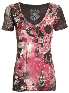 Archaic AFFLICTION Womens T-Shirt HYDRATE Skulls Tattoo Biker UFC Sinful $40 | Clothing, Shoes & Accessories, Women's Clothing, T-Shirts | eBay!