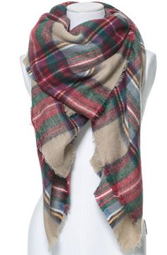 LOVE this tartan blanket scarf!  Lots of great scarves and amazing jewelry on this site!