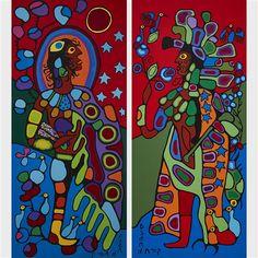 Artworks of Norval Morrisseau (Canadian, 1932 - 2007)