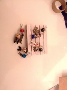 The Supernatural Cast in polymer clay. Dean, Sam (soulless), Castiel and Crowley