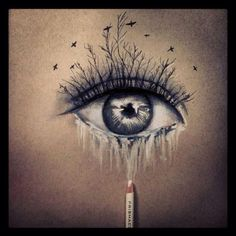An eye drawing