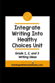 Looking for ways to integrate writing into your unit on making healthy choices? Students can write mini books, keep a journal, use hot seat questions, extend the anticipation guide, and complete exit cards. Mental Health Activities, Wellness Activities, Kids Mental Health, Oral Health, Health And Wellness, Writing Lesson Plans, Writing Lessons, Kids Writing, Writing Ideas