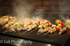 Shish kebabs are such a fun idea! Hudson Valley Photography Wedding Photography Hudson Valley photographer Photographed by Elissa I. Davidson Photography