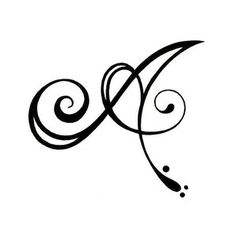 Initial Tattoos, Tattoo Designs Gallery - Unique Pictures and Ideas Cool Designs To Draw, Drawing Simple, Printable Tattoos, Art Tumblr, Schrift Tattoos, Cursive Alphabet, Hand Drawn Fonts, Fancy Letters, Letter Art