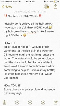 Rice water for hair - Hair Loss Treatment Long Hair Tips, Natural Hair Care Tips, Curly Hair Tips, Curly Hair Care, Curly Hair Styles, Natural Hair Styles, Wavy Hair, Natural Hair Regimen, Natural Hair Care Products