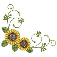 Sunflowers 08 machine embroidery designs