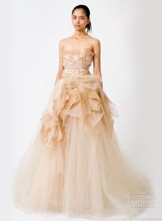 wedding dresses with color | Vera Wang Spring 2011 Wedding Gowns | Wedding Inspirasi