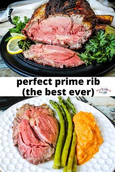 The perfect prime rib recipe! This easy no-fail fool-proof prime rib recipe is perfect for Christmas dinner - just don't open the oven door! Rib Recipes, Great Recipes, Dinner Recipes, Healthy Recipes, Holiday Meals, Holiday Recipes, Perfect Prime Rib, Prime Rib Recipe, Diabetic Friendly