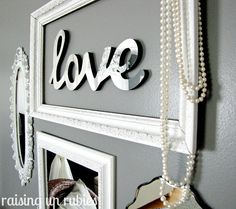 Love the idea of framing simple wording ... cute!  Could be cool for the powder room.