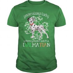 Awesome Dalmatian Lovers Tee Shirts Gift for you or your family your friend:  Dalmatian Saint Patricks Day Lucky With A Dalmatian Dog Tee Shirts T-Shirts