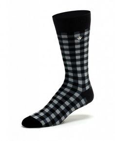 Gingham Plaid Mens Dress Socks