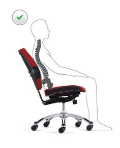 Did you know there is a correct way to slouch in an office chair?