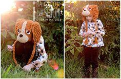 Handmade Crochet Spaniel Puppy Dog Animal Hat for boys and girls of all ages www.irarott.com