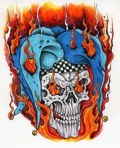 Burning+Joker+by+scottkaiser.deviantart.com+on+@deviantART