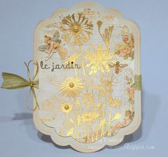 Gold embossed solid stamp